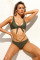 Green Brazilian Tied Push Up Bikini Swimsuit