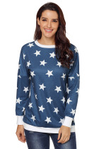 Navy All Over Star Sweatshirt