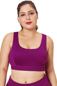 Rose Plus Size Racerback U-shaped Neck Sport Bra