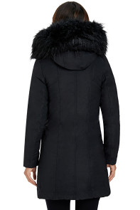 Fur Hooded Winter Rookie Black Parka Jacket