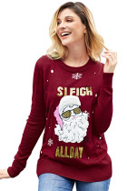 Si Fight All Day Red Santa Clause Christmas Sweater