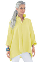 Lemon Stand Collar Button Front Blouse