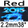 red 2.2mm 38°