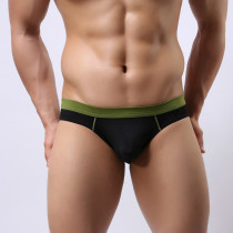 Men's Underwear Hollow-Out Buttocks Elastic Briefs Smooth Thongs(2pcs/lot)