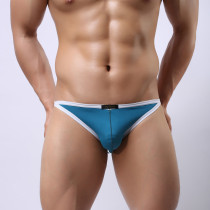 Men's Underwear Hollow-Out Breathable Elastic Briefs Smooth Thongs(2pcs/lot)