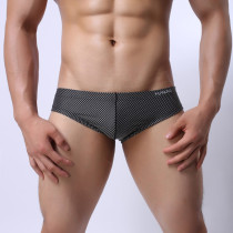 Mens Jacquard Low Rise Underwear Breathable Briefs(2ps/lot)