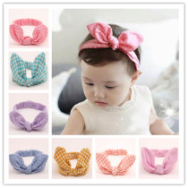 Baby Girl's Headbands Chiffion Flower Head Accessories for Toddler Kid's Turban Knotted Headwear  (Pack of 9)