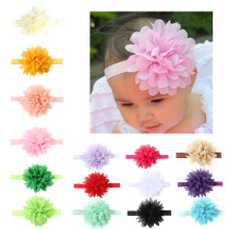 Aschic Baby Girl's Headbands Chiffion Flower Head Accessories for Toddler Kid's Turban Knotted Headwear(Pack of 15)