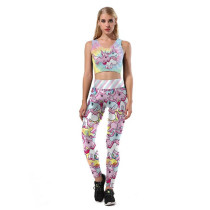 Womens Halloween Pumpking Ghost Printed Bodycon Yoga Bra Crop Top Leggings(pack of 1 set)