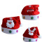 Traditional Red and White Santa Claus Christmas Snowman Christmas Deer Hats(Pack of 3 )