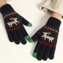 Women's Winter Warm Thick Knit Phone Texting Touch Screen Gloves Mittens