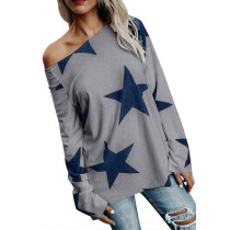 Grey Long Sleeve Star Bright T-shirt