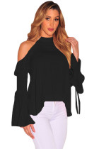 Sexy Flirt Cold Shoulder Ruffle Flare Sleeve Top