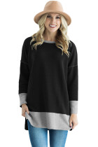 Black Two Tone French Terry Sweatshirt