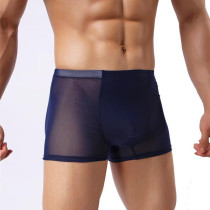 Men's Underwear Sexy Mesh Transparent Boxer Brief (2-Pack)