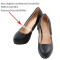 Closecret Women's Transparent Invisible Shoe Straps Hold Loose High Heeled Shoes
