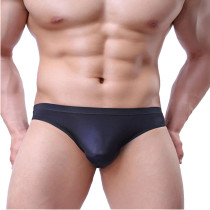 Bossail Men Comfort Low Rise Briefs Breathable Sexy Ice Silk Bikini Undies(Pack of 2)