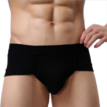 Bossail Men's Low Rise Breathable Triangle Underwear Modal Bikini Briefs
