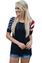 Closecret Black Stars Stripes Short Sleeve Tee