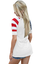 Closecret White Stars Stripes Short Sleeve Tee