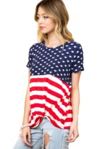 Closecret The Stars and Stripes Front Knot T-shirt