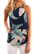 Closecret All Over Green Leaves Print Tank Top