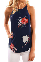 Closecret Beautiful Floral Print Tank Top in Navy