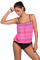 Closecret Rosy Lace Overly 2pcs Bandeau Tankini Swimsuit