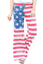 Closecret American Flag Vintage Wash Wide Leg Pants