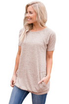 Closecret Khaki Heathered Short Sleeve Pocket Tee