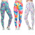 Bossail 3-Pack Printing Flower Girl Leggings Kids Classic Stretch Pants
