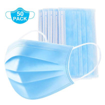 50 Pcs Disposable Surgical Mask Dust Breathable Earloop Antiviral Face Mask, Medical Sanitary Surgical Mask Thick 3-Layer Masks FDA&CE certification