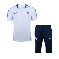 2016 17 FRANCE NIKE White Soccer Tracksuit chandal football Training Suits  Survetement Football tracksuits short 24f690f6b86a1
