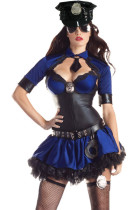 10PCS Deluxe Sultry Officer Costume