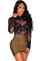 Olive Bandage Arched Mini Skirt