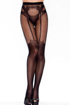 Garter and Panty Silhouette Patterned Pantyhose