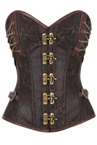14 Steel Bone Steampunk Custom Made Corset with Thong