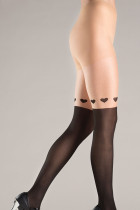 Wrap Around Hearts Design Pantyhose