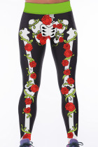 Rose Skeleton High Waist Gym Yoga Pants