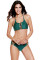 Dark Green Cut out Vintage Pinup Female Two Piece Tankini