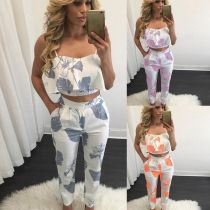 New Fashion Print Two-pieces Pant Sets