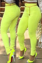 Lime High Waist Skinny Pants