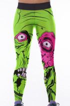 Green Monster Print High Waist Yoga Pants