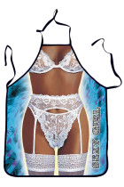 Sexy Girl White Bra Kitchen Apron