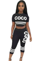 Black Coco Two-piece Sexy Pant Set