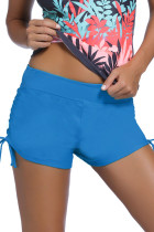 Blue Ruched Side Swimsuit Bottom