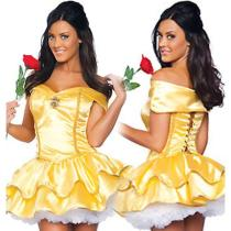 Halloween Sexy Yellow Princess Costumes(S-XL)