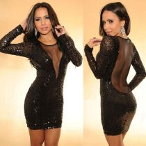 Sizzling Sequin Sexy Backless Party Dress