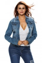 Light Stone Wash Women Denim Jacket