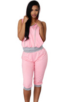 Pink Grey Sexy Rogue Sweat Pant Set